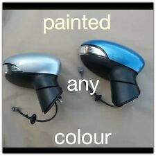 Ford fiesta Mk8 Wing Door Electric Mirror With Cover Cap L/H Side Painted 2014