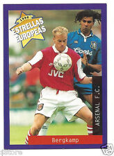 Rare '96 Panini Holland's EUROPEAN SUPER STAR Dennis Bergkamp with Arsenal F.C.