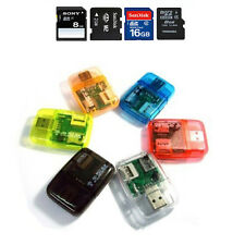 Color New USB 2.0 ALL in One Memory Card Reader for Micro SD/MMC/SDHC/TF/M2/MS