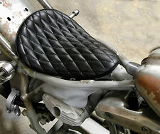 EASYRIDERS BLACK DIAMOND STITCH SOLO SEAT HARLEY BOBBER CHOPPER XS650 TRIUMPH