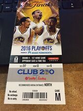 2016 GOLDEN STATE WARRIORS V CLEVELAND CAVALIERS NBA FINALS GAME #1 TICKET STUB