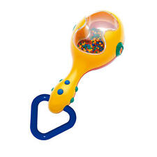 Tolo Toys Colourful Maraca Rattle for Baby, Kidz, Children 3 Months +