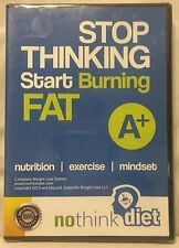 Stop Thinking Start Burning Fat nutrition exercise no think diet DVD-ROM NEW!!