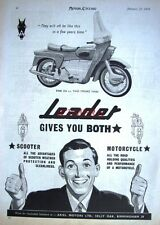 1959 Ariel 'LEADER 250cc 2-Stroke Twin' Motor Cycle ADVERT (487f) - Print Ad