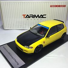 1/18 Tarmac Works Honda Civic EG6 Spoon Yellow with black bonnet Group A Racing