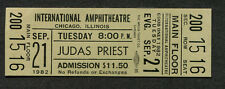 1982 Judas Priest unused concert ticket  World Vengeance Tour Breaking The Law