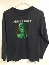 Mojang Jinx Minecraft CREEPER Youth Large (14-16) Grey Long Sleeve