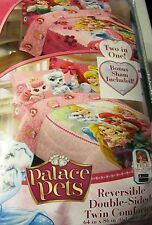 Disney Princess Palace Pets 5 Pc Twin Comforter Sham & Sheet Set NEW!