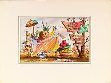 Stanley Brodey ( American,1920-2001) Original Watercolor Mixed Media Painting