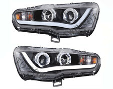 Vland Headlamps For 2010-Now Mitsubishi Lancer Evo Front Lights Halo Projector