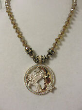 KIRKS FOLLY CLOUDWALKER UNICORN MAGNETIC ENHANCER/NECKLACE SET NIB FREE SHEA