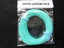 STICK MARSH FLY LINE WF-4-F  WITH EXPOSED LOOP ON LEADER END --SKY  BLUE