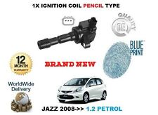 FOR HONDA JAZZ 1.2 1.4 VTEC 2008->NEW IGNITION COIL PENCIL TYPE 30520-RB0-003