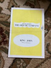 Q1-a Theatre Programme King John 1953 Richard Burton Old Vic Company