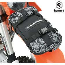 Moose Racing Off Road Enduro Trail doble Deporte Bolsa De Fender-Negro