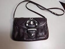 B. MAKOWSKY -  Brown leather shoulder or, cross body bag