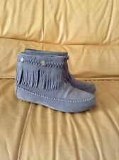 Shoes of Soul Womens Gray Fasion Ankle Boots Size 7