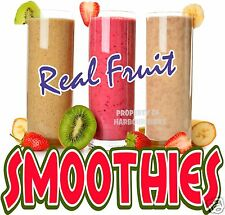 """Smoothies Decal 14"""" Fresh Fruit Drink Concession Food Truck Vinyl Sign Menu"""