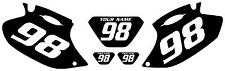 2001-2002 Yamaha WR426F Pre-Printed Black Backgrounds White Numbers