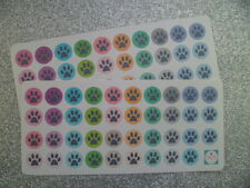 78 Paw Print Icon Planner/Diary/Scrapbooking Stickers - On Glossy Paper