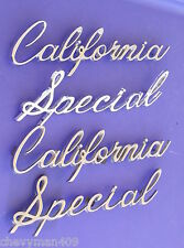 FORD MUSTANG CALIFORNIA SPECIAL1968 EMBLEMS PAIR CHROME REAR QUARTER PANEL BADGE