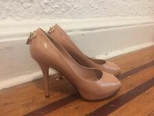 Louis Vuitton Tan Patent Leather Oh Really Pumps sz 38.5 US 8.5
