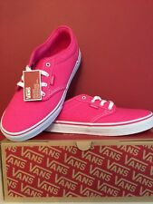 VANS ATWOOD Pink Trainers Sneakers Size Uk 4.5 BRAND New WITH BOX!!