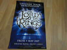 The LORD of the RINGS  Play 2007 Theatre Royal DRURY Lane Poster