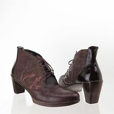 NAOT Baccio Women's Shoes Purple Leather Wedge Booties Size EU 41 US 10 M NEW!
