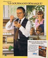 PUBLICITE ADVERTISING 045 1978 ALSA mousse au chocolat