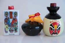 3 Chinese Rice Wine Bottles. EMPTY #1