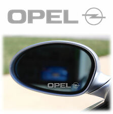 OPEL WING MIRROR - ETCHED GLASS CAR VINYL DECALS-STICKERS x4 calibra astra