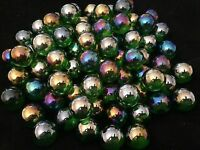 HOM Glass Marbles 16mm Lustered Green Collectors or traditional game solitair