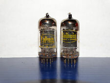 2 x 12AX7A Raytheon-Baldwin Tubes*Long Black Plates* Balanced*#8