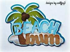 CRAFTECAFE BEACH VACATION TITLE paper piecing premade scrapbook page WOLFFEY5