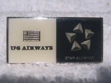 US Air/US Airways Star Alliance Pin/Tie Tack - Dark Blue & Cream - New in Bag