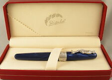 Stipula David Blue & Palladium Rollerball Pen In Box - NEW - Italy - $175 MSRP