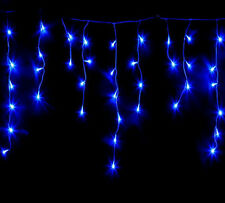 25M 500 LED ICICLE LIGHTS  BLUE COLOUR WITH  8 FUNCTIONS