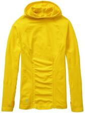 New Athleta Small Long Sleeve Run Wicking Yellow TRACKER HOODIE Top Shirt S $89