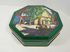 VINTAGE VIENNESE BISCUIT TIN CAN CANNISTER RETRO DECOR NORWICH RAILWAY SCENE