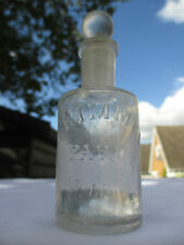 SMALL E.RIMMEL PARIS & LONDON PERFUME BOTTLE WITH GROUND IN STOPPER c1915