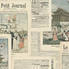 Crispy Paper French Old Style Newspaper Wallpaper Paste the Wall Vinyl 526509