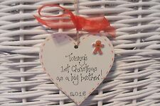 BABY'S FIRST/1st CHRISTMAS as big brother/sister TREE DECORATION personalised