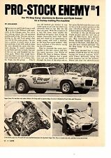 1971 CAMARO PRO STOCK DRAG RACING - ORIGINAL 2-PAGE ARTICLE / AD