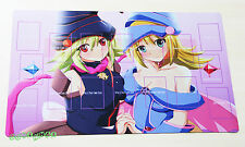 E272# Free Mat Bag Dark Magician Girl And Gagaga Girl Yugioh Play Mat Card Zones
