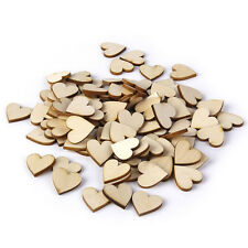 50pcs 40mm Wooden Love Heart Wood Log Slices Discs DIY Craft Wedding Hobbies