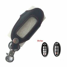 New Leather Remote Smart Key Holder Cover Case For Nissan 3 4 Button Key Bag Fob