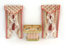 KIT 1:48 scale kit  Victorian Rose Curtains and Desk by Jean Day
