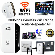 300Mbps Wireless Repeater Router Range Extender WiFi Signal Booster WPS UK Plug