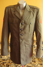 vtg Vietnam War Era Nam US marine Green Wool Serge Jacket Men's Coat Size 38 Reg